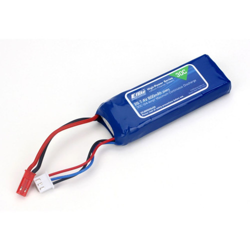 E-flite 800mAh 2S 7.4V 30C LiPo Battery Pack w/JST Connector