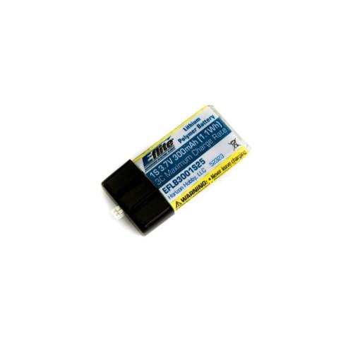 E-Flite 300mAh 1S 3.7V 25C LiPo Battery