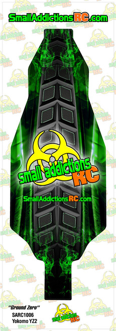 "Small Addictions RC (Yokomo YZ2) ""Ground Zero"" Chassis Protector"