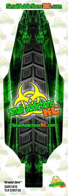 "Small Addictions RC (TLR 22SCT 3.0) ""Ground Zero"" Chassis Protector"