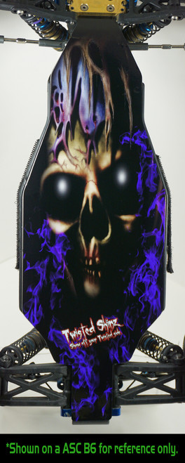 "Twisted Skinz 1003 ""Little Grim"" 9 mil Chassis Protector (Associated B6/B6D)"