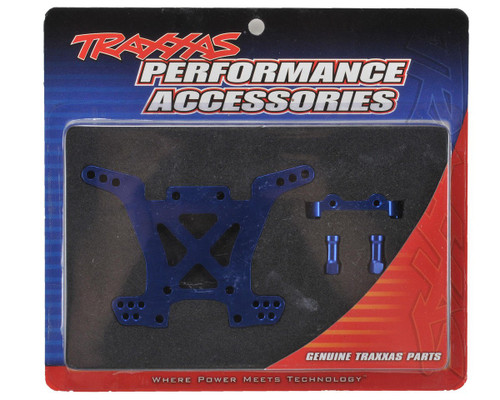 Traxxas Aluminum Rear Shock Tower (Blue) Rally, Slash 4x4, Stampede 4x4; Telluride 4x4