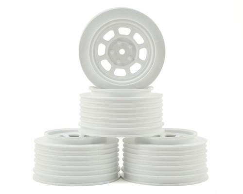 DE Racing Speedway SC Short Course truck Wheels Associated SC10/B5M (White) (4) +3mm Offset/29mm Backspace w/12mm Hex