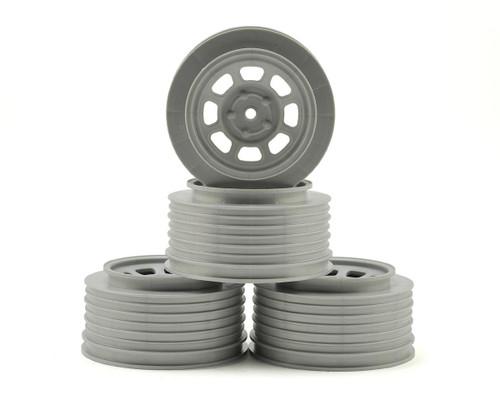 DE Racing Speedway SC Short Course Truck Wheels Associated SC10/B5M (Silver) (4) +3mm Offset/29mm Backspace w/12mm Hex