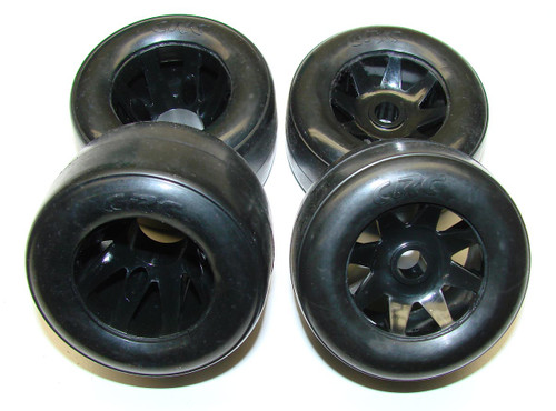 CRC RT-1 Front & Rear Mounted GTR Rim Rubber Tire (4)