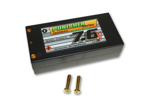"""Punisher Series """"Shorty Pack"""" 5600mah 100C 2cell Silicon Graphene Li-Hv 7.6V"""