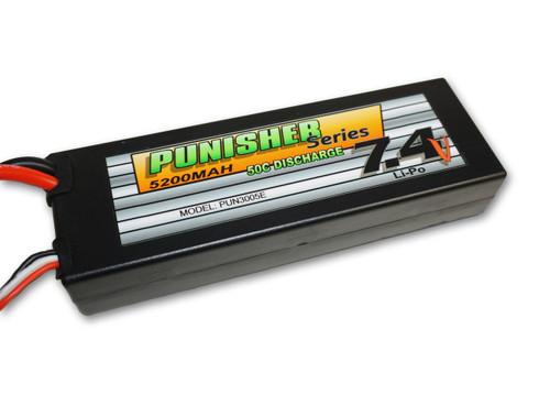Punisher Series 5200mah 50C 2cell Lipo (EC3 Plug) 7.4V Battery