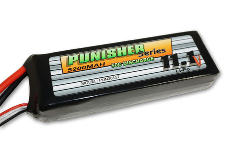 """""""Punisher Series"""" 5200/50C 3cell Soft Case Lipo (Traxxas)"""