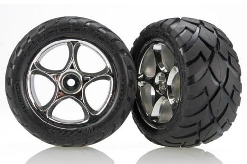 Traxxas 2478R Anaconda Rear Tires w/Tracer Wheels (2) (Chrome)