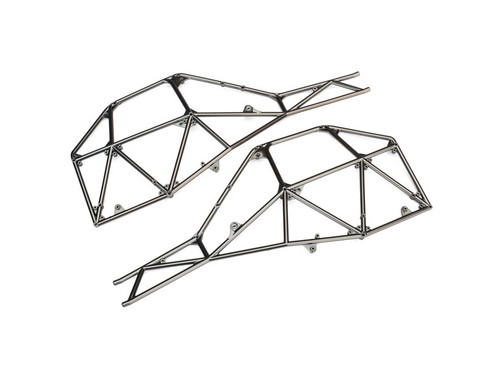 Traxxas 8430X Tube Chassis, side section (left & right) (satin black chrome-plated)