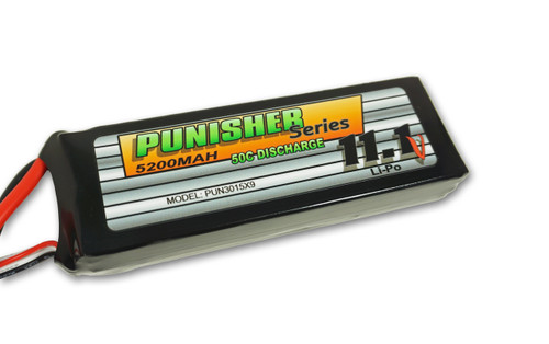 """""""Punisher Series"""" 5200/50C 3cell Soft Case Lipo (XT90)"""