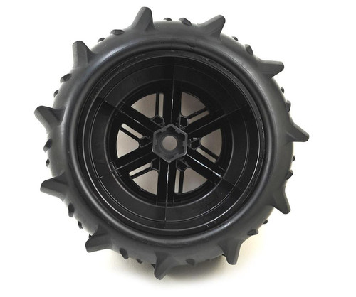 Traxxas 7773 X-Maxx Pre-Mounted Paddle Tires & Wheels (2)