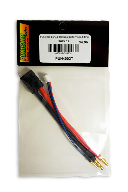 Punisher Series Traxxas Battery Lead 4mm Bullet