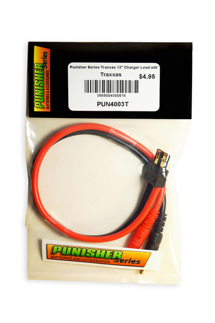 "Punisher Series Traxxas 12"" Charger Lead with 4mm Bullet"