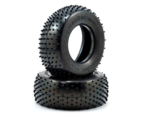 "Schumacher Racing U6773 ""Mini Spike"" Short Course Tires (2) (Silver)"