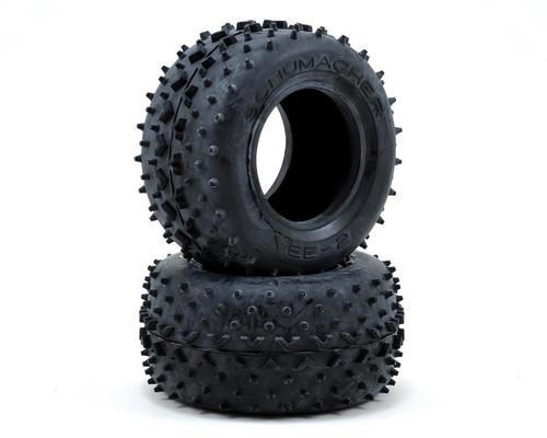 """Schumacher Racing U6502 """"Vee"""" 2.2 1/10 Truck Front Tires (2) (Blue)"""