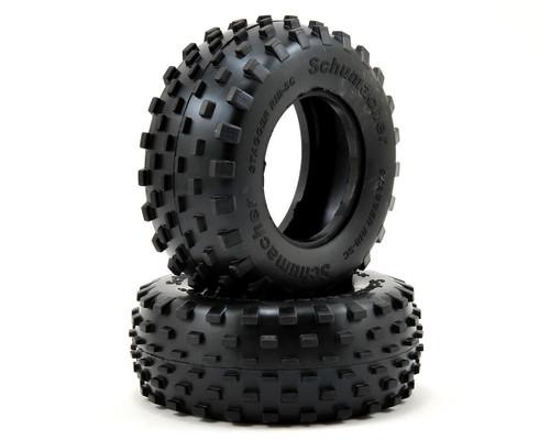 "Schumacher Racing U6783 ""Stagger Rib"" Short Course Tires (2) (Silver)"
