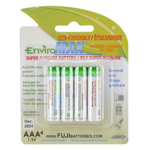 Fuji EnviroMAX AAA Super Alkaline Battery (4)