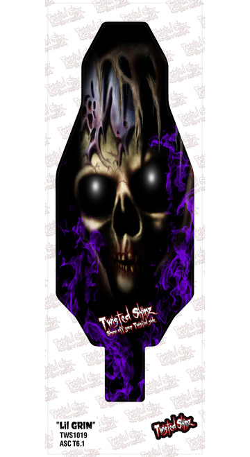 "Twisted Skinz 1019 ""Little Grim"" 9 mil Chassis Protector (T6.1)"