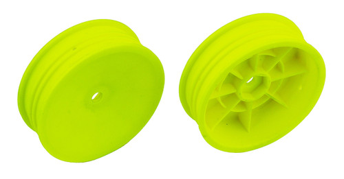 "Team Associated 91758 12mm Hex 2.2"" ""Slim"" Front Buggy Wheels (2) (B6) (Yellow)"