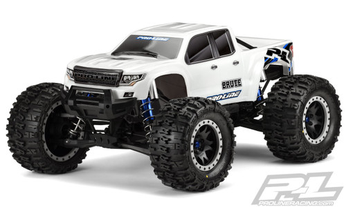 Pro-Line 3513-17 Bash Armor Pre-Cut Monster Truck Body (White) (X-Maxx)