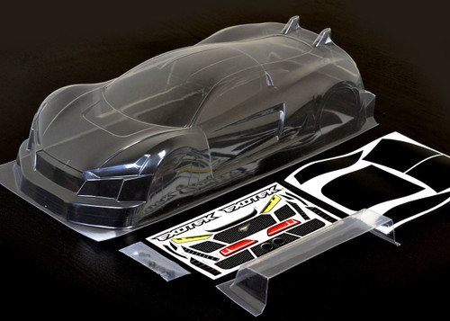 Exotek 1863 190mm USGT R·Tek 1/10 Touring Car Sedan Body w/Wing (Clear)