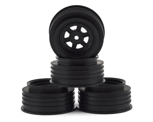 DE Racing DER-GSF-AB Gambler Front Wheels (AE Offset) (Black) W/ 12mm Hex