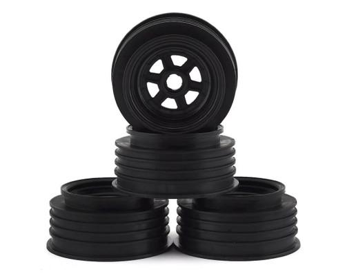 "DE Racing DER-GSF-CB Gambler 3/8"" Bearing Front Wheels (Custom Works/GFRP) (Black)"
