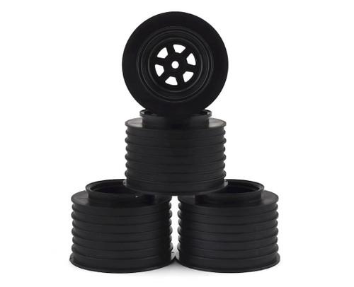 DE Racing DER-GSR-AB Gambler Rear Sprint Wheels (AE/TLR) (Black) W/ 12mm Hex