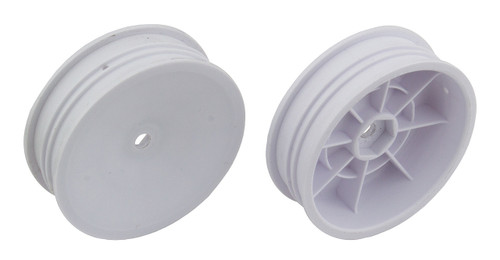 "Team Associated 91757 12mm Hex 2.2"" ""Slim"" Front Buggy Wheels (2) (B6) (White)"