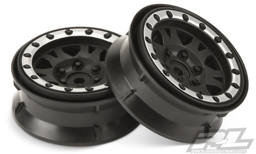 "Pro-Line 2769-13 Impulse 1.9"" Bead-Loc Wheels (Black/Silver) (2)"