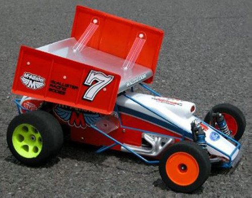 """McAllister Racing #451 7"""" Top Wing for Mercer Sprint w/ Nuts and Bolts"""