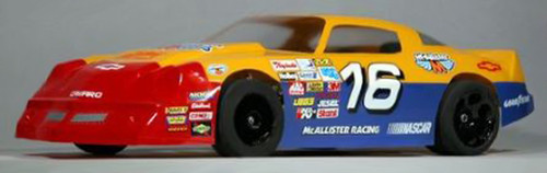 McAllister Racing 264 1/10 1970s Camaro Street Stock Body w/ Decal