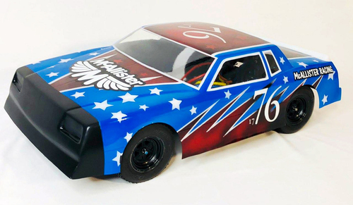 "McAllister Racing #318 1/10 "" Wide Body"" Monte Carlo Street Stock Body w/ Decal, 10"""