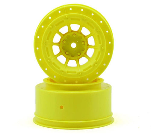 JConcepts 3351Y 12mm Hex Hazard Short Course Wheels (Yellow) (2) (Slash)