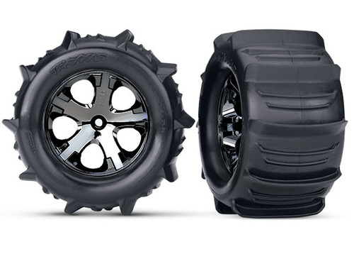 "Traxxas 3689 Paddle Tires 2.8"" Pre-Mounted w/All-Star Electric Rear Wheels (2)"