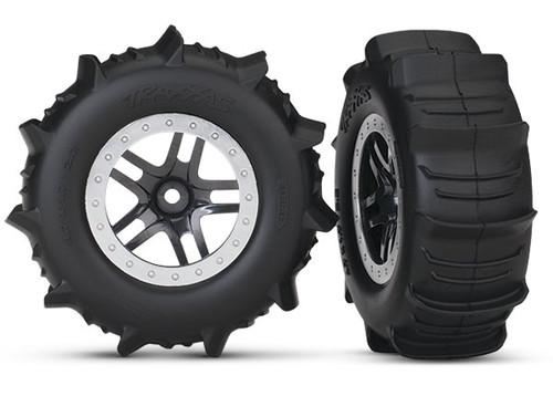 Traxxas 5891 Paddle Tires w/SCT Split Spoke Rear Wheel (2)