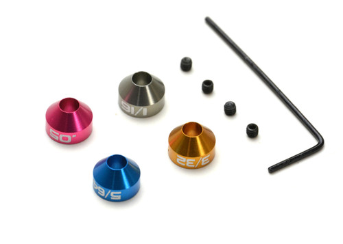 Exotek Racing 1872 Collar ID Set SAE for Hudy, Protek or Similar Size Wrenches (0.05, 1/16, 5/64, 3/32)