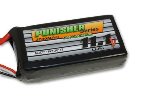 """Punisher Series """"Shorty Pack"""" 3700mah 100C 3cell Lipo (Traxxas) 11.1V Battery"""