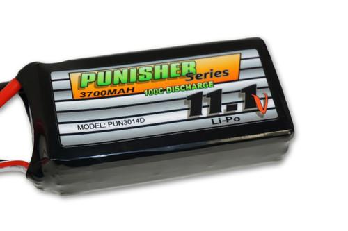 "Punisher Series ""Shorty Pack"" 3700mah 100C 3cell Lipo (Deans) 11.1V Battery"