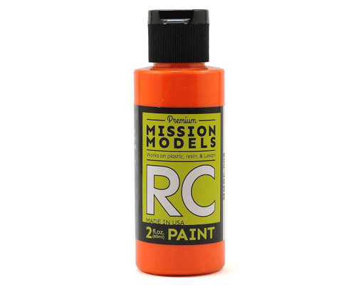 Mission Models RC008 Orange Acrylic Lexan Body Paint (2oz)