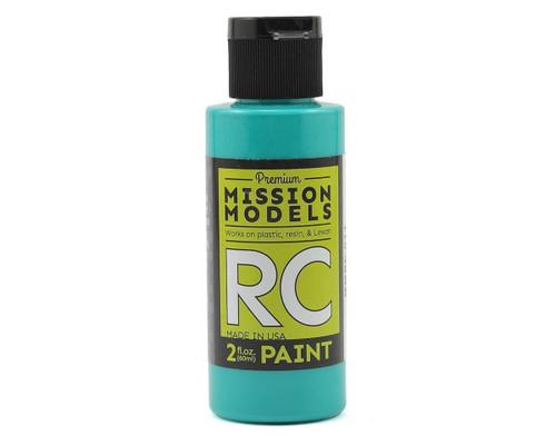 Mission Models RC011 Aqua Blue Acrylic Lexan Body Paint (2oz)
