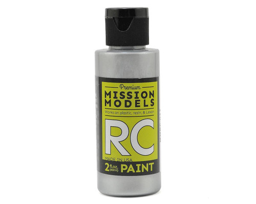 Mission Models RC017 Racing Silver Acrylic Lexan Body Paint (2oz)