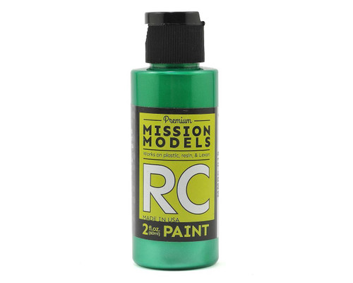 Mission Models RC019 Pearl Green Acrylic Lexan Body Paint (2oz)