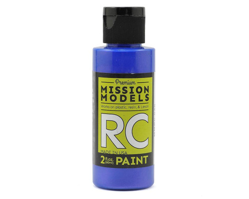 Mission Models RC030 Iridescent Blue Acrylic Lexan Body Paint (2oz)