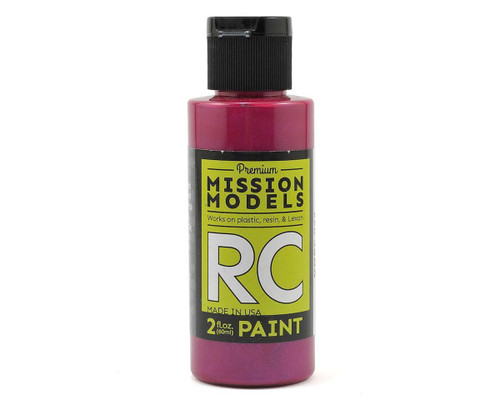 Mission Models RC032 Iridescent Candy Red Acrylic Lexan Body Paint (2oz)