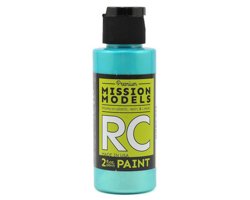 Mission Models RC034 Iridescent Teal Acrylic Lexan Body Paint (2oz)