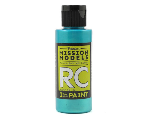 Mission Models RC035 Iridescent Turquoise Acrylic Lexan Body Paint (2oz)