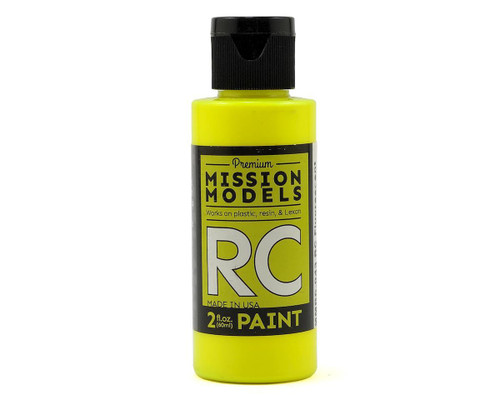 Mission Models RC043 Fluorescent Racing Yellow Acrylic Lexan Body Paint (2oz)