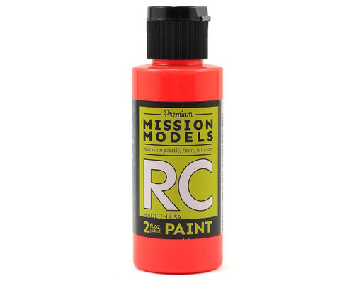 Mission Models RC046 Fluorescent Racing Red Acrylic Lexan Body Paint (2oz)